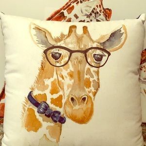 Smart Giraffe Accent Pillow
